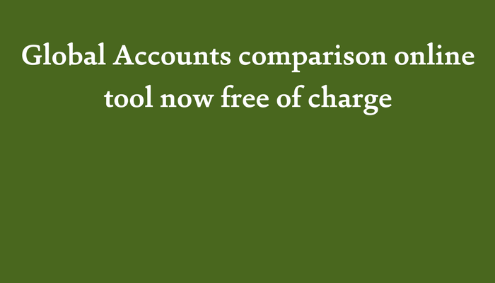 Global Accounts online comparison tool now free of charge